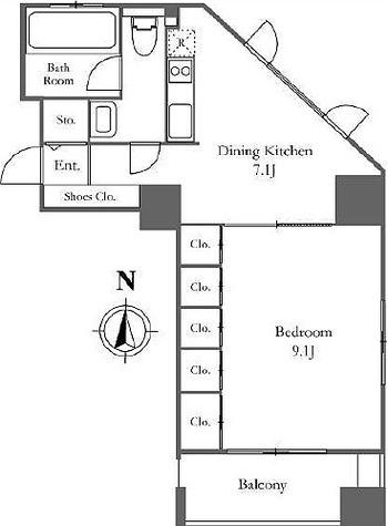 ベルファース西麻布 / 1DK(41.91㎡) 部屋画像1