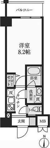 S-RESIDENCE押上パークサイド / 1K(25.81㎡) 部屋画像1