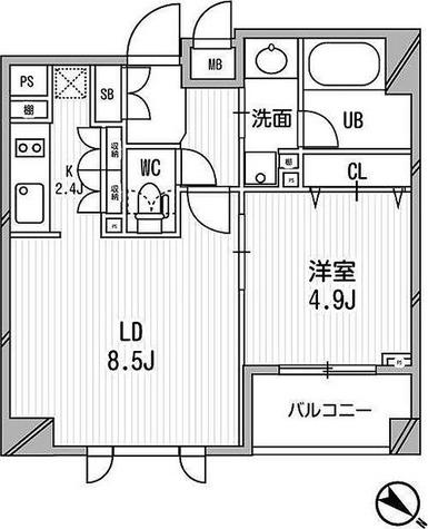 クリオ渋谷ラ・モード / 1LDK(38.32㎡) 部屋画像1