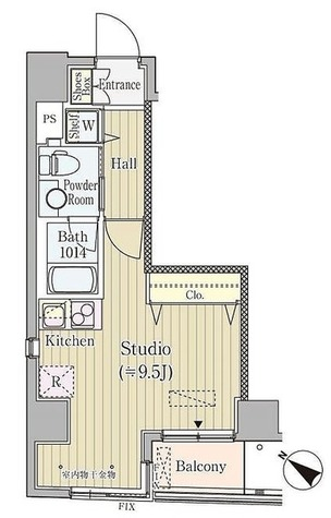 コルティーレ日本橋人形町 / 1R(25.89㎡) 部屋画像1