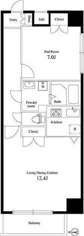サンテラス芝公園 / 1LDK(53.52㎡) 部屋画像1