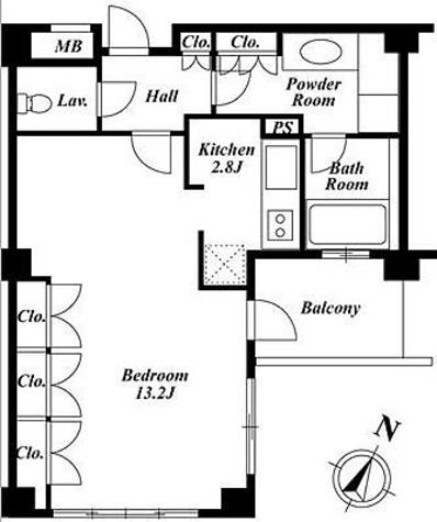 プラチナコート広尾 / 2階 部屋画像1