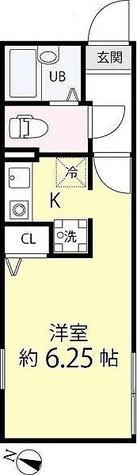ゼスティ学芸大学(ZESTY学芸大学) / ワンルーム(21.60㎡) 部屋画像1