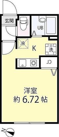 ゼスティ学芸大学(ZESTY学芸大学) / ワンルーム(21.42㎡) 部屋画像1