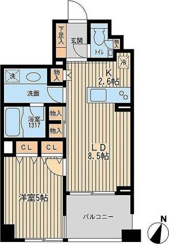 クリオ上野毛ラ・モード / 1LDK(43.81㎡) 部屋画像1