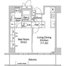 コンフォリア田町(旧マイアトリア田町) / 1LDK(44.14㎡) 部屋画像1
