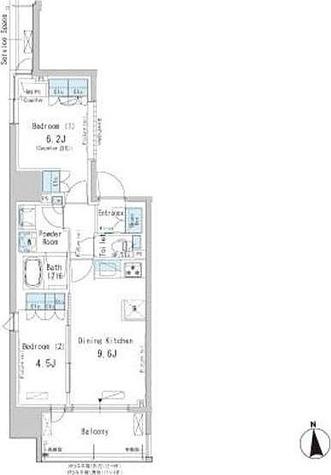 パークアクシス新御徒町East / 2DK(50.58㎡) 部屋画像1