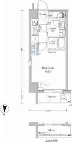 アーバネックス森下Ⅱ / 1K(25.16㎡)-6 部屋画像1