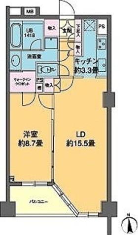 カスタリア高輪(旧ニューシティレジデンス高輪) / 1LDK(62.37㎡) 部屋画像1