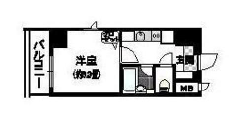 新富町 5分マンション / 602 部屋画像1