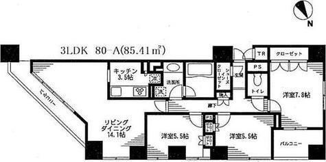 レジディア日本橋馬喰町 / 3LDK(85.41㎡) 部屋画像1