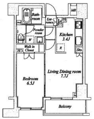 プラウドフラット神楽坂Ⅱ / 8階 部屋画像1