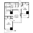 河田町コンフォガーデンⅡ / 2LDK61.94㎡ 部屋画像1