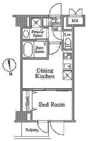 レジディア西小山 / B3タイプ(25.60㎡) 部屋画像1