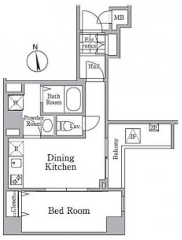 レジディア西小山 / 1階 部屋画像1