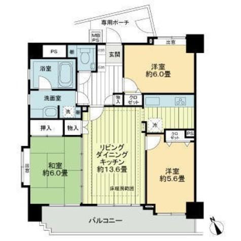 ライオンズマンション渋谷道玄坂 / 806 部屋画像1