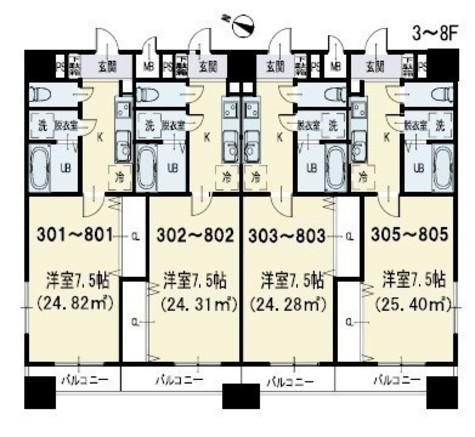 POWERHOUSE/KY(パワーハウス/KY) / 1K(25.40㎡) 部屋画像1