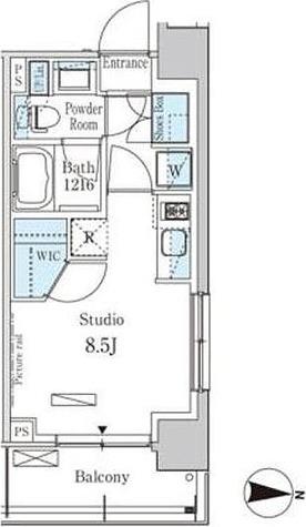 パークアクシス菊川 / 1R(25.02㎡) 部屋画像1