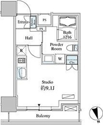ベルファース芝浦タワー / 1R(25.73㎡) 部屋画像1