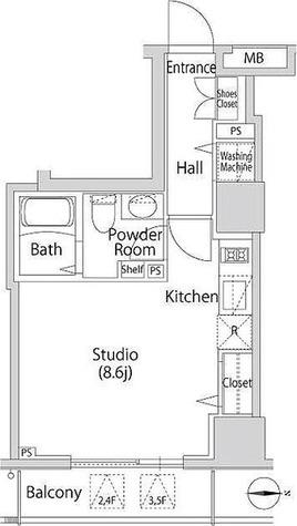 カーサスプレンディッド南麻布 / 1階 部屋画像1