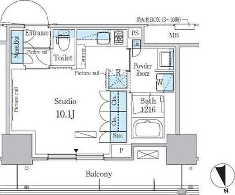 パークアクシス東陽町・親水公園 / 0階 部屋画像1