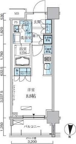 パークアクシス両国馬車通り / ワンルーム(25.06㎡) 部屋画像1