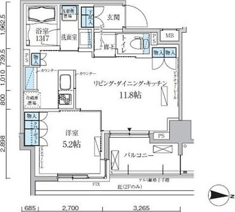 パークアクシス両国馬車通り / 1LDK(40.07㎡) 部屋画像1