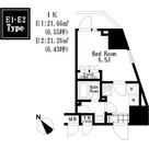 レジディア大森Ⅲ / 1K(21.66㎡) 部屋画像1