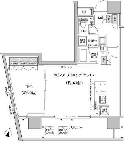 パークハビオ渋谷本町レジデンス / 5階 部屋画像1