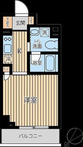 蔵前 3分マンション / Bタイプ(25.00㎡) 部屋画像1
