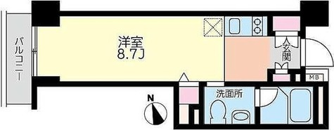 戸越 2分マンション / 2階 部屋画像1