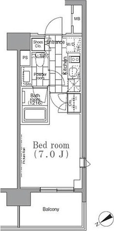 パークハビオ目黒リバーサイド / Aタイプ 部屋画像1