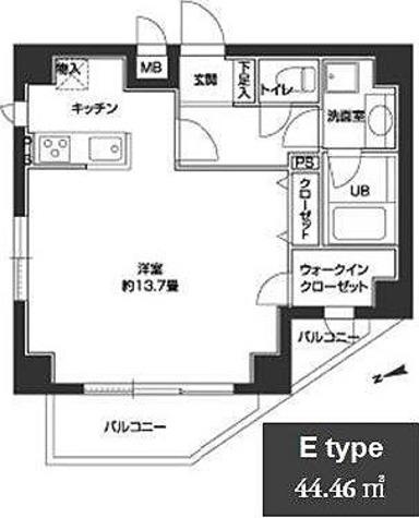 カスタリア中野 / 1K(44.46㎡) 部屋画像1
