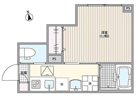 ミハス市川 / 1K(18.63㎡) 部屋画像1