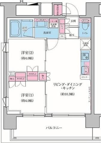 クレヴィアリグゼ品川シーサイド / 8階 部屋画像1