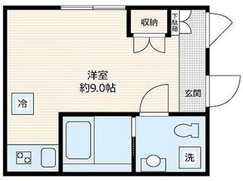 ラフィネ東雪谷 / ワンルーム(20.29㎡) 部屋画像1