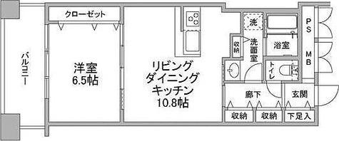 ネクステージレジデンス中央湊 / 1LDK(43.41㎡) 部屋画像1