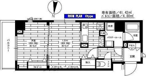 ステージグランデ多摩川 / Cタイプ(41.42㎡) 部屋画像1