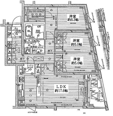 KWレジデンス桜新町 / 3LDK(89.34㎡) 部屋画像1