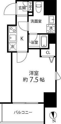 プレール・ドゥーク浅草橋 / 1K(25.83㎡) 部屋画像1