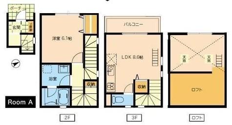 SatVerna EBISU / 3階 部屋画像1