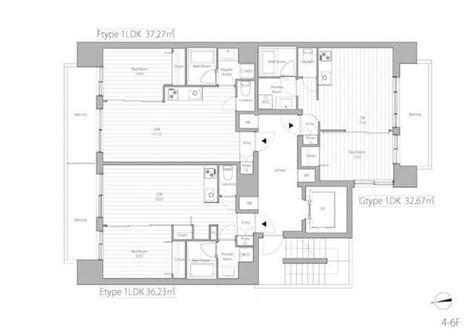 LANAI GRACE SHIBAKOEN / 6階 部屋画像1