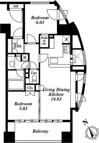 プレミアロッソ / 2LDK(56.19㎡) 部屋画像1