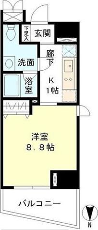 マイプレジール広尾 / 1K(29.43㎡) 部屋画像1