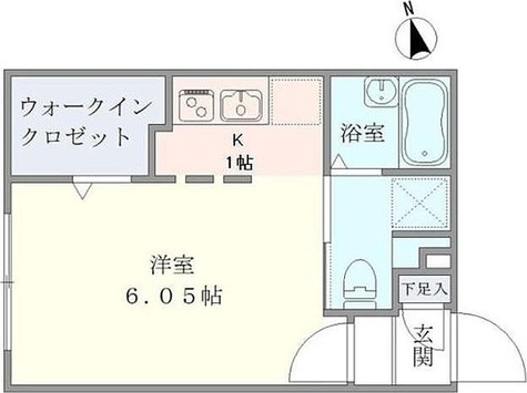 要町 5分マンション / 1K(20.98㎡) 部屋画像1