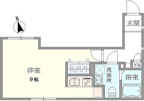 要町 5分マンション / 1K(29.17㎡) 部屋画像1