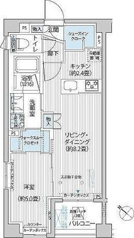 シティカレント目黒学芸大学 / 1LDK(40.65㎡) 部屋画像1