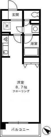 カナーリス月島 / 1K(31.84㎡) 部屋画像1