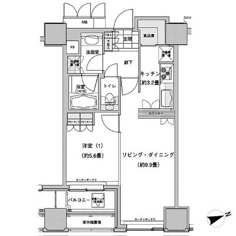 ウエストパークタワー池袋 / 1LDK(46.90㎡) 部屋画像1