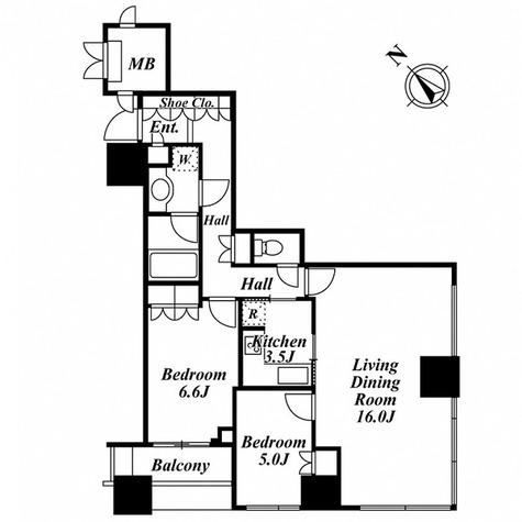 ウエストパークタワー池袋 / 2LDK(72.73㎡) 部屋画像1